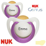 NUK Genius, orthodontisch, latex, maat 2