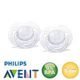 Philips Avent Classic, symmetrisch, silicoon, maat 1 (transparant, transparant)